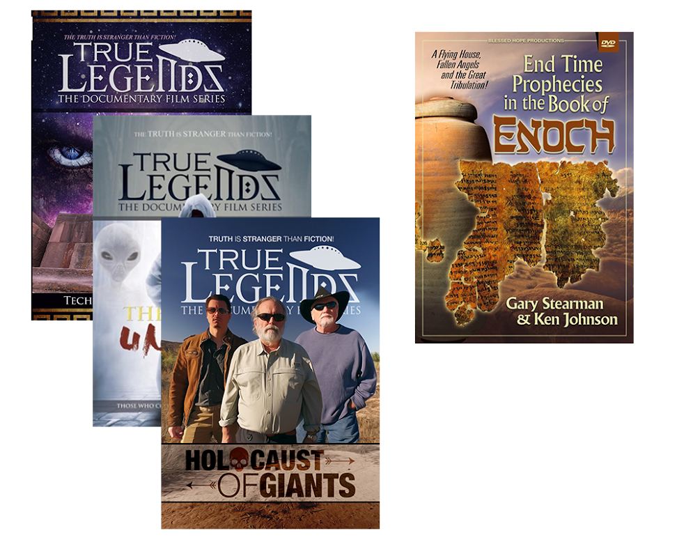 The True Legends DVD Collection - The Entire Steve Quayle/Tim Alberino/Tom  Horn DVDs Collection - FREE End-Time Prophecies in Enoch DVD