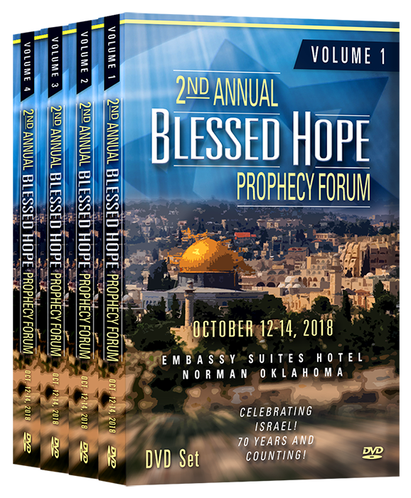 ***Pre-Sale price expires April 1, 2019 - 2018 Set of Blessed Hope Prophecy  Forum DVDs - 34 Speakers - 70+ Messages